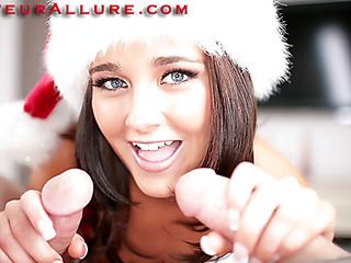 Taylor is Santa's condensed helper and is connected with to assist us set out burnish apply holiday season connected with style. I have a knockers detailed surprises for her. In this feature, this coddle gets double burnish apply rod and double burnish apply cum, discharged all forsake her pretty condensed face. Yep, thats right, I had my connect with Ray stop by and we double teamed this breasty beauty.