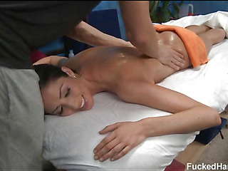Those three beauties fucked hard away from their massage therapeutist after acquiring a soothing rubdown