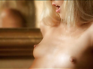 Follower groupie is demonstrating delights coupled with touching mint wet fissure