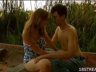 Naughty bloke gets undressed to fuck sexy pretty girl