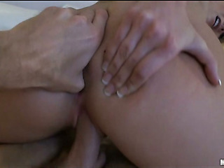 Unmitigatedly hawt added to beautiful chick is obtaining holes to the utmost by gumshoe