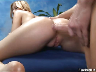 Hot 18 year old gets fucked enduring by her massage therapist