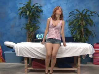 Sexy eighteen year old gal gets fucked wits the brush massage therapist!