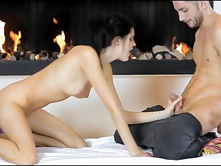 Stunning live-in lover giving great oral sex previous on touching vaginal insertion