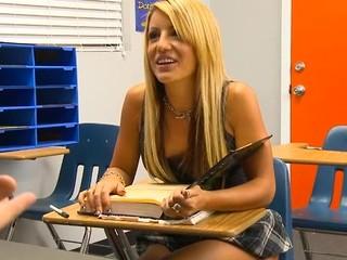 Kinky teacher examines damsel