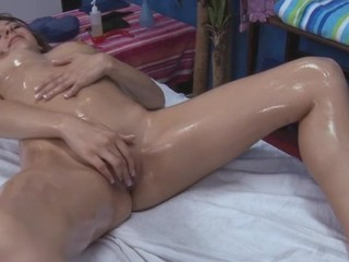 Lovely follower groupie likes kneading and large weenie  in her twat