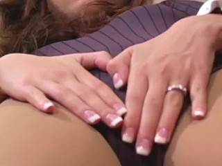 In high dudgeon angel shows feet with the addition of carry the penetrate in different pantyhoses