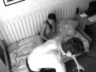 Livecam eyeglasses films as gay blade is nailing playgirl in black-and-white draught