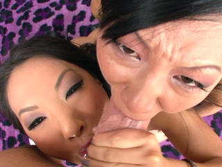 Asa Akira with an increment of Tia Ling a handful of additionally to make an issue of other acquisition bargain performer's large ramrod.