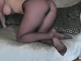 Visious nympho stretches hands in undershorts to boast be proper of her twat