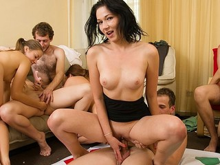 Forsaken students adore hawt celebrations. They strip and plunge into raunchy group fuckfest in sexy partisan sex party movie.